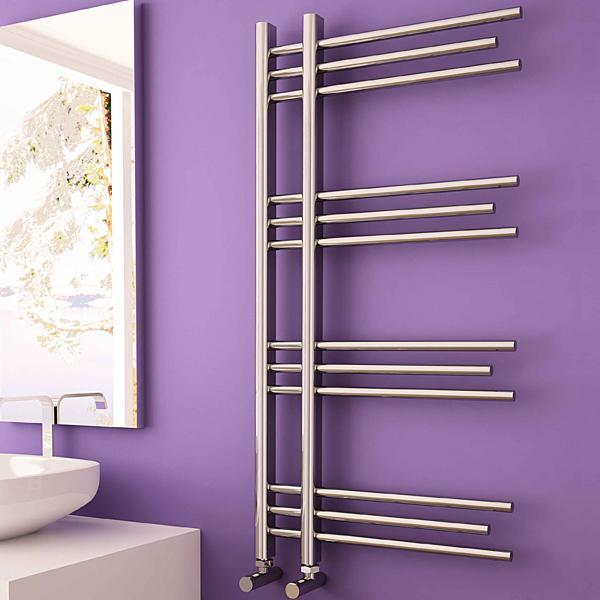 Carisa Rubin Vertical Designer Towel Rail - 1000mm x 500mm - Chrome