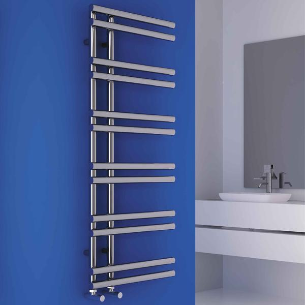 Carisa Tanya Vertical Designer Towel Rail - Chrome