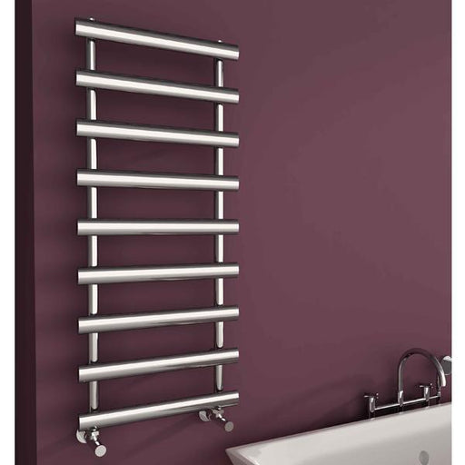 Carisa Aldo Steel Vertical Designer Towel Rail - Chrome