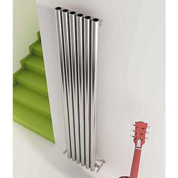 Carisa Mistral Vertical Designer Radiator - Satin Polished