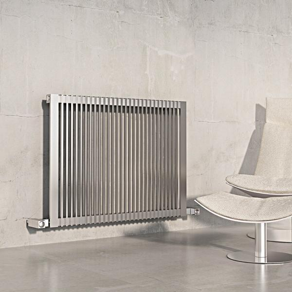 Carisa Stripe Stainless Steel Horizontal Radiator