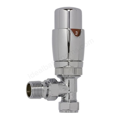 Essential Thermostatic Radiator Valve - 15mm - Chrome