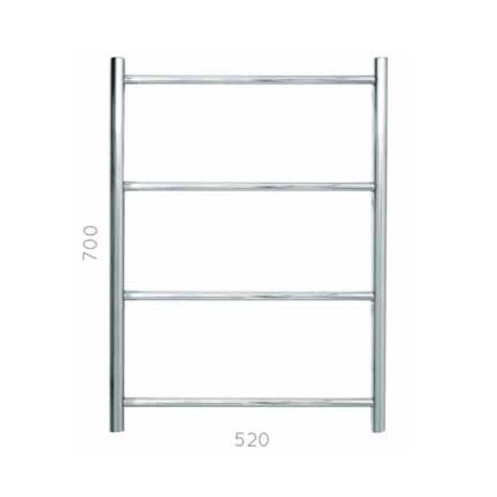 JIS Rusper  Heated Towel Rail - 700 x 520mm - Stainless Steel