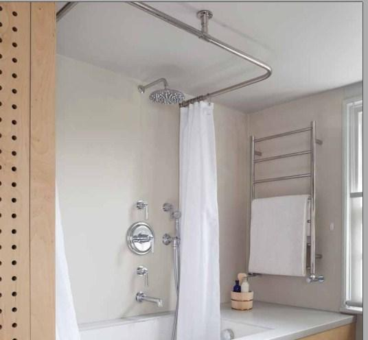 JIS Pevendey  Heated Towel Rail - 975 x 520mm - Stainless Steel