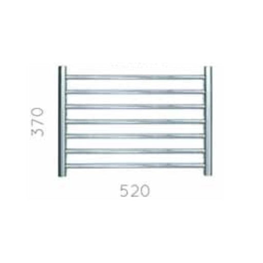 JIS Buxted Heated Towel Rail - 370 x 520mm - Stainless Steel