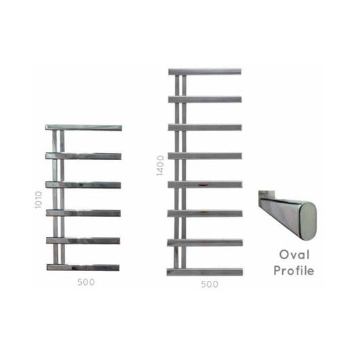 JIS  Goodwood  Square Profile Towel Rail - Stainless Steel