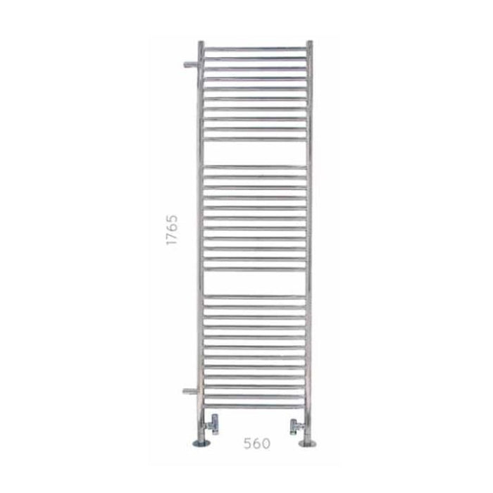 JIS Midhurst Range Heated Towel Rail - 1765 x 500mm - Stainless Steel