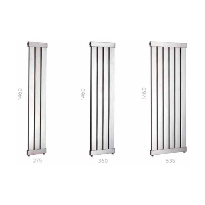 JIS Arun Range Heated Towel Rail - Stainless Steel