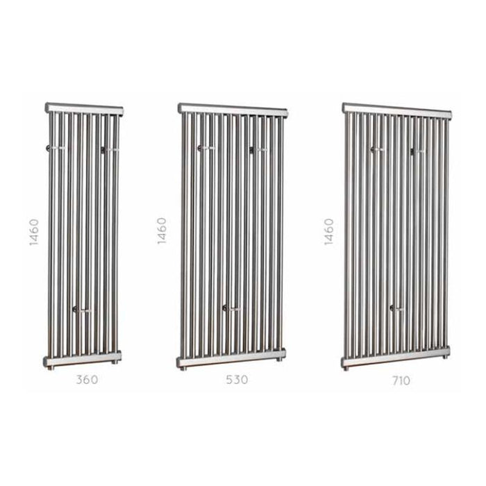 JIS Hove Range Heated Towel Rail - Stainless Steel