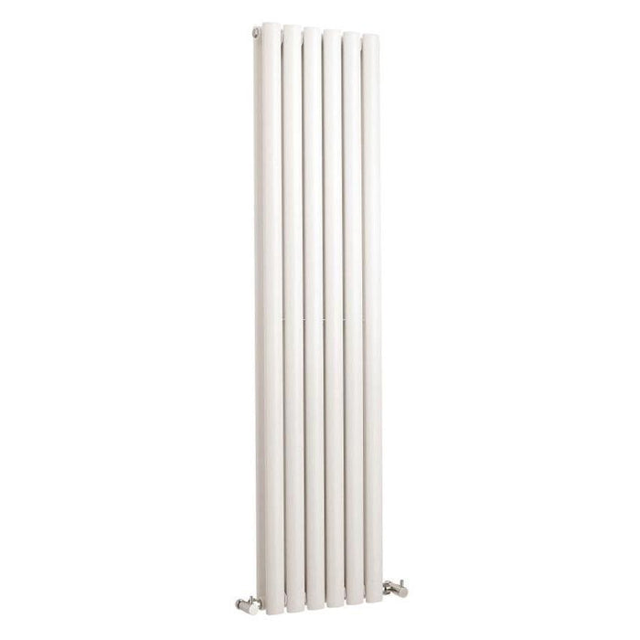DQ Heating Bosun Double Panel Vertical Designer Radiator - White