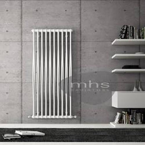 MHS Tesi Memory Steel White Vertical Designer Radiators