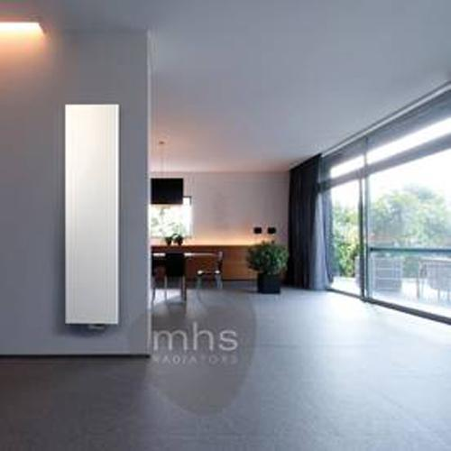 MHS Niva Stainless Steel Vertical Designer Radiators 1820mm x 520mm Double Panel