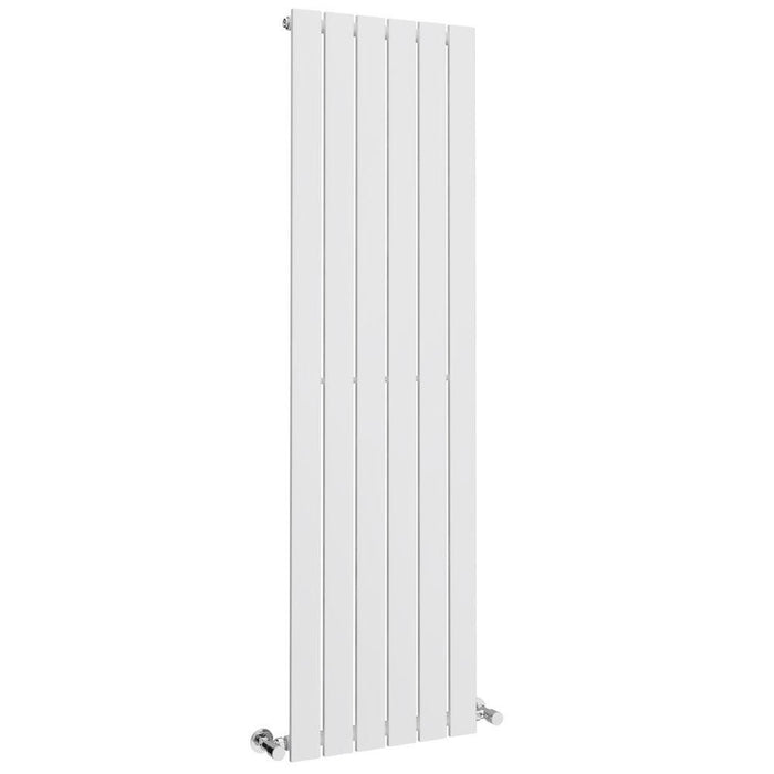 DQ Heating Axis Double Panel Vertical Designer Radiator - White