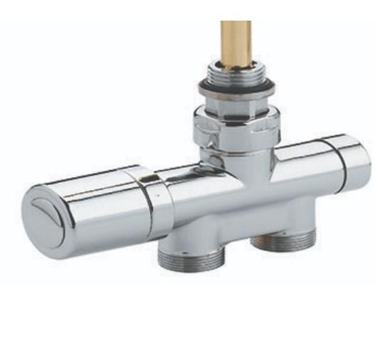 Aeon Thermostatic Valve complete with 15mm tube connectors - Pair