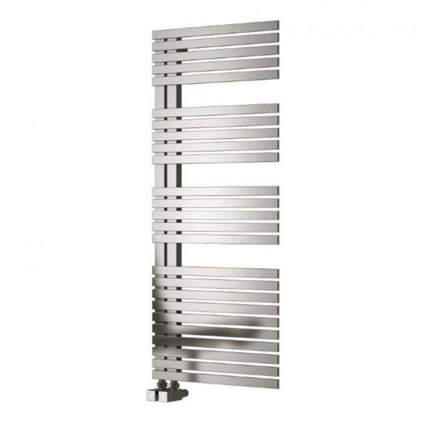Reina Entice Vertical Designer Heated Towel Rail - Brushed