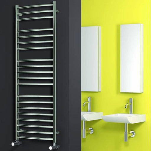 Reina EOS Curved Vertical Designer Heated Towel Rail - Polished