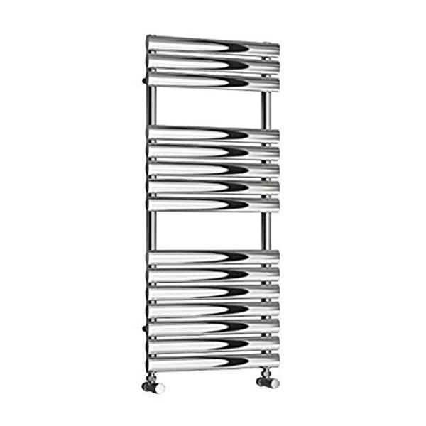 Reina Helin Vertical Designer Heated Towel Rail - Polished