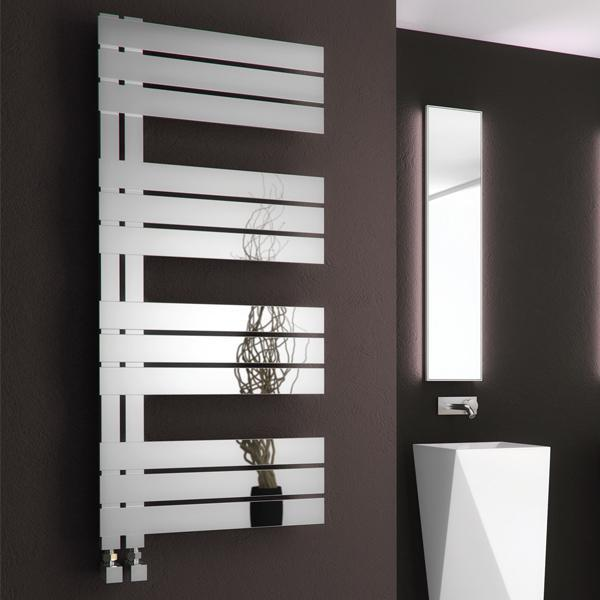 Reina Ricadi Vertical Designer Heated Towel Rail - Polished
