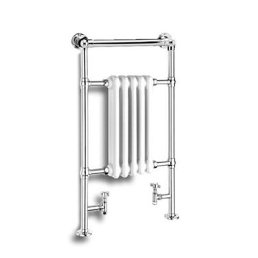 Reina Oxford Horizontal Traditional Heated Towel Rail - 960mm x 538mm - White
