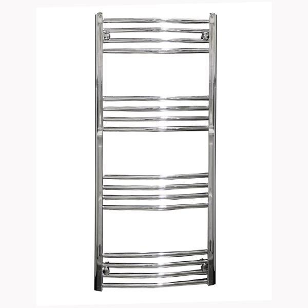 Reina Capo Curved Thermostatic Electric Towel Rail - Chrome