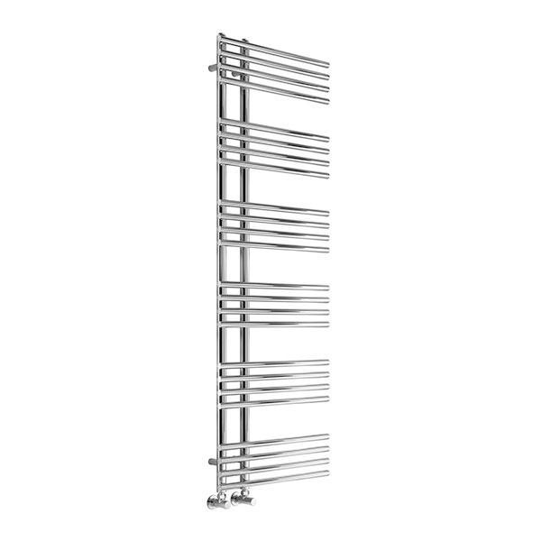 Reina Elisa Vertical Designer Towel Rail - Chrome