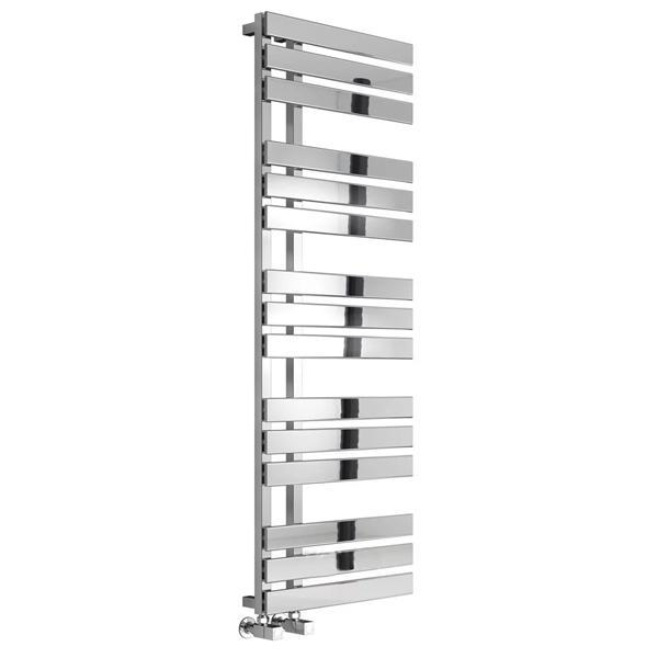 Reina Serena Vertical Designer Towel Rail - Chrome