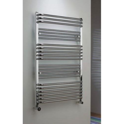 TRC Poll Steel Heated Towel Rail