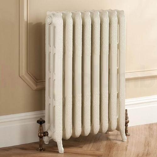 TRC Trieste Traditional Cast Iron 2 Column Radiator - White