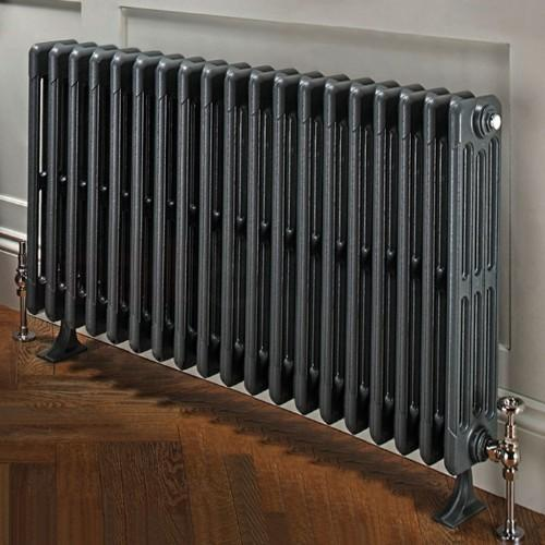 TRC Bianco Traditional Cast Iron 4 Column Radiator - RAL