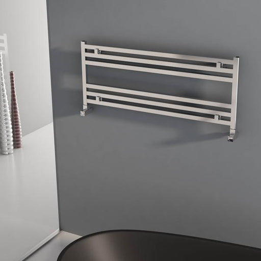 Carisa Fame Horizontal Designer Towel Rail - 400mm x 1000mm - Polished Anodized