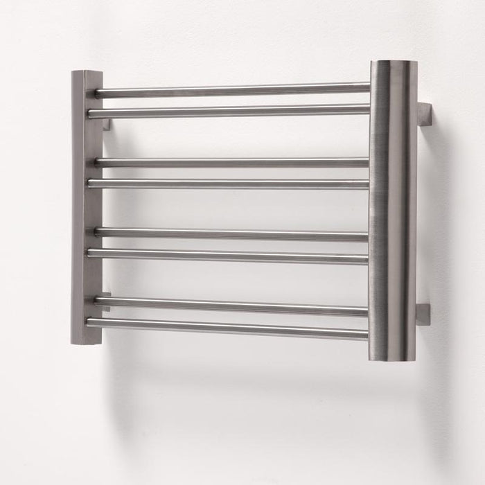 Aeon Petit Designer Brushed Stainless Steel Towel Rail - 420 x 600mm