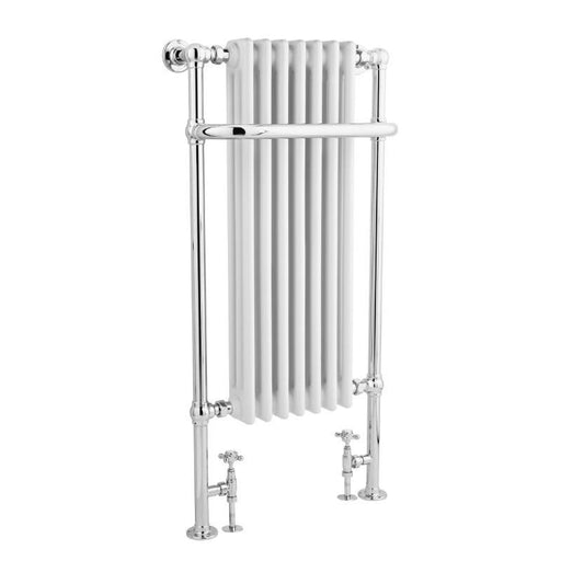 Bayswater Wesley Towel Rail/Radiator - Chrome & White