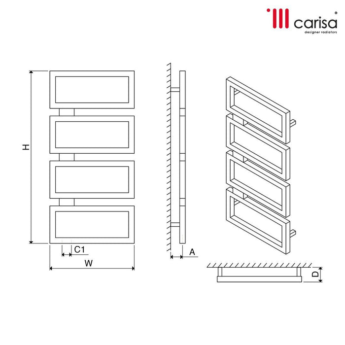 Carisa Beck Stainless Steel Vertical Radiator