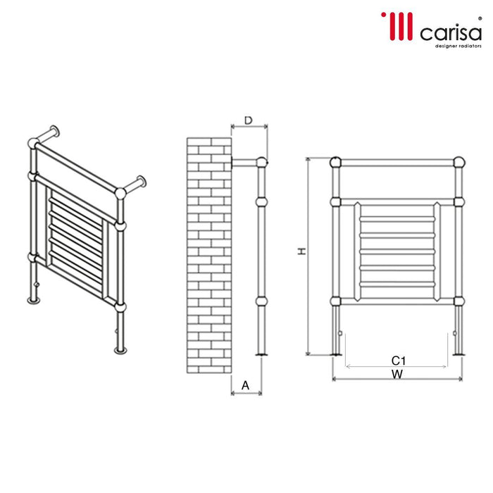 Carisa Edward Steel Designer Radiator - Chrome