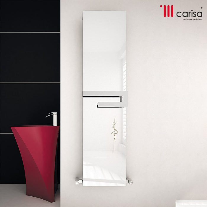 Carisa Elvino Aluminium Bath Mirror Vertical Radiator