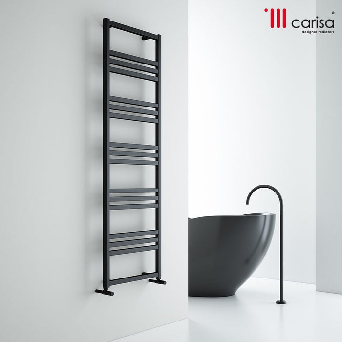 Carisa Frame Steel Vertical Towel Rail - Chrome