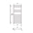 Abacus Aquila Designer Vertical Towel Rail - Brushed StaInless steel