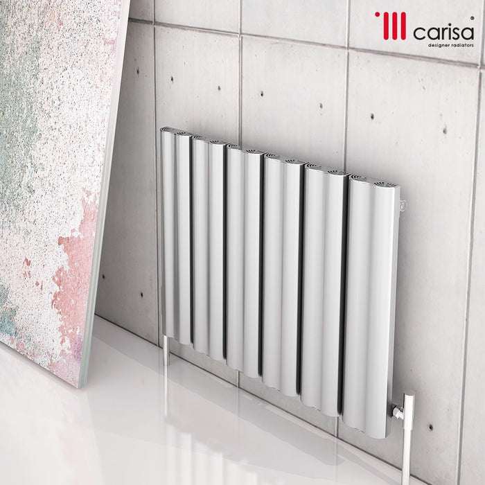 Carisa Wave Aluminium Horizontal Radiator - Polished Anodized