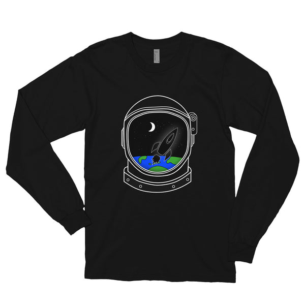 Astronaut Helmet Long sleeve t-shirt