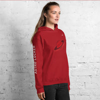 Red Saturn Hooded Sweatshirt