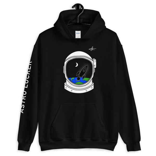 Astronaut Helmet Hooded Sweatshirt