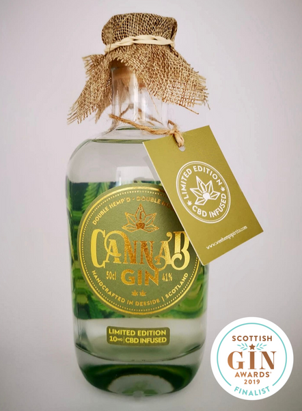 Hemp & CBD (Cannabidiol), Infused Canna'B Gin | Premium Scottish Gin | Distilled In Royal Deeside, Scotland | Full Spectrum Cannabinoids | Water Soluble