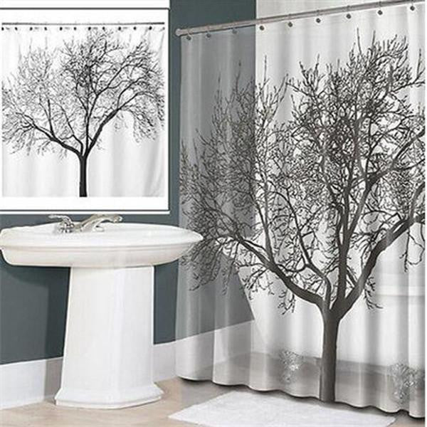 Waterproof Shower Curtain - Tree Design