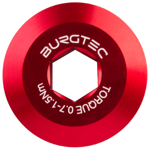 Burgtec Shimano Pre Tension Crank Bolt Race Red