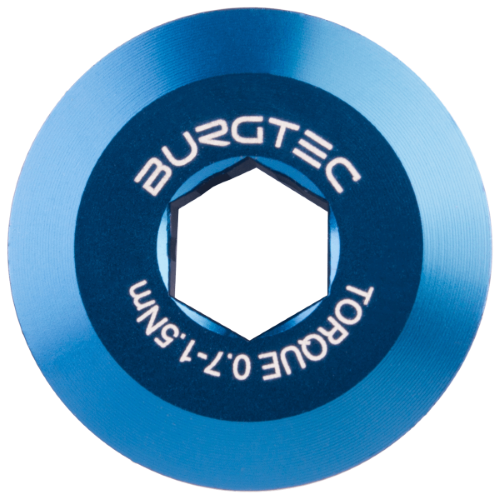 Burgtec Shimano Pre Tension Crank Bolt Deep Blue