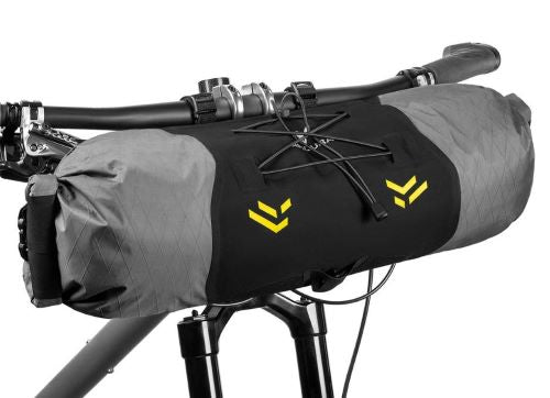 Apidura Backcountry Handlebar Pack 11L Front on Bike