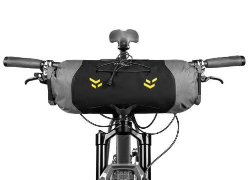 Apidura Backcountry Handlebar Pack 7L on Bike Front