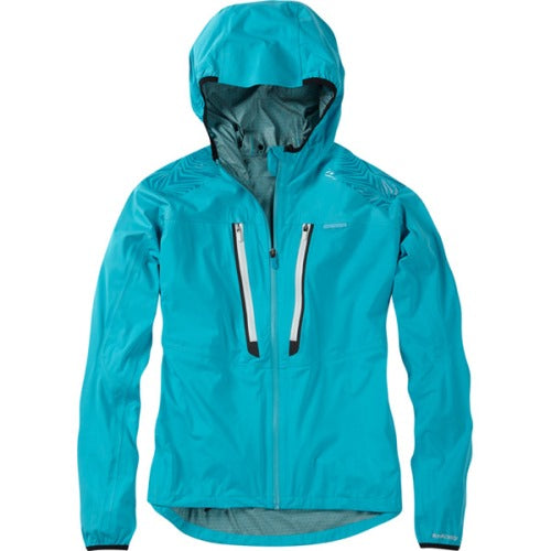Madison Flux Womens Super Light Waterproof Softshell Caribbean Blue Jacket