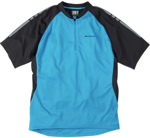 Madison Stellar Mens Short Sleeve Atomic Blue Jersey Front