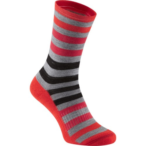Madison Isoler Merino Red Fade Sock